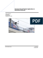 Unmanned Aircraft System Applications in International Railroads
