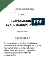 3. Evaporación Evapotranspiración