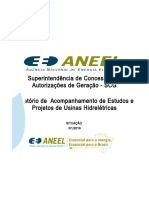 Acompanhamento de Estudos e Projetos Hidroenergéticos