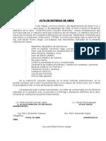 ACTA DE RESEPCION DEFINITIVA