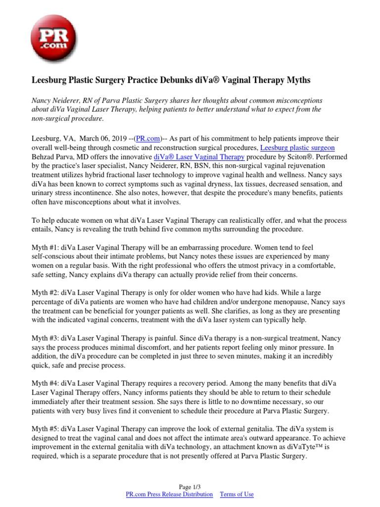 Leesburg Plastic Surgery Practice Debunks diVa® Vaginal