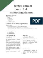 Agentes Para El Control de Microorganismos