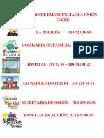 Números de Emergencias La Unión Sucre