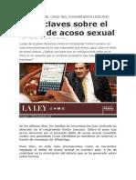 SIETE CLAVES SOBRE EL DELITO DE ACOSO SEXUAL
