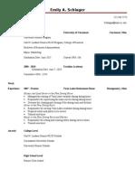 Resume - Honors Program