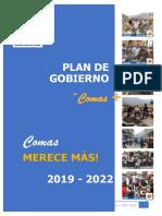 Plan Gobierno Comas 2019 2022