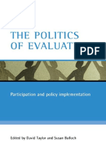 David Taylor, Susan Balloch - The Politics Of Evaluation_ Participation And Policy Implementation (2005, Policy Press).pdf