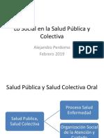 Lo Social en La Salud Oral - Clase Social 2019-1