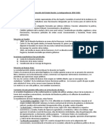 Primeros Pasos en La Conformación Del Estado Nación La Independencia 1810-1820.