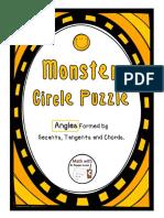 MonsterCirclePuzzleAnglesFormedBySecantsandTangents