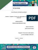 """Evidencia 1 Flujograma """"Procesos de La Cadena Logística y El Marco Estratégico Institucional"""""""