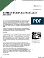31910 Popular Mechanics Calming a Pulsating Brake Pedal