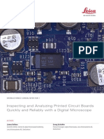 Microelectronics Inspecting&Analyzing PCBs En