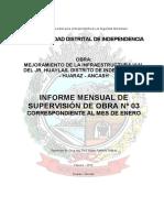 Informe Mensual 03 -Enero 2013- Pav Huaylas -Formato MDI.pdf