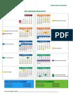 Calendario Escolar Andalucía 2018-2019