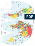 Mapa Mundi en Ingles