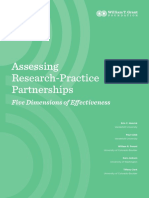 Assessing Research Practice Partnerships