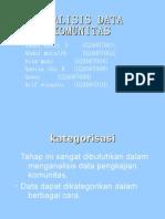 Analisis Data Komunitas