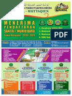 Brosur Pendaftaran Santri Baru Pondok Pesantren Modern Al-Muttaqien Balikpapan 2019/2020