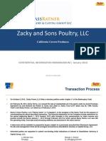 Zacky Sons Poultry LLC - Confidential Information Memorandum
