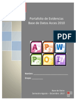 Portafolio de Evidencias Introduccion a La Base de Datos