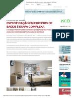 Especificação Em Edifícios de Saúde é Etapa Complexa - ARCOweb