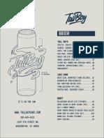 TallBoy menu