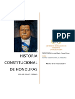 Historia Constitucional de Honduras