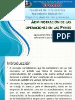 Administración de las operaciones en las Pymes