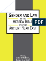 Gender and Law in the Hebrew Bible and the Ancient Near East