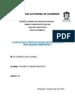 PRACT 1 CLASIFICACIÓN E IDENTIFICACIÓN DEL MATERIAL UTILIZADO EN ANALISIS.docx