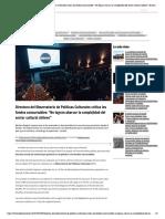Directora del Observatorio de Políticas Culturales critica los fondos concursables_ _No logran abarcar la complejidad del sector cultural chileno_ _ El Desconcierto