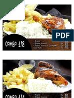 precio de pollos y hamburguesas