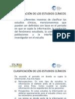 Diseño y clasificación de estudios clínicos