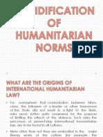 Cofidification of Humanitarian Norms(Final)