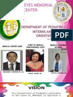 Revised Pediatrics Orientation 2018