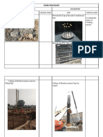 WORK PROCEDURE Comaparison Sheet for Pile