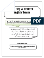 The Easy and Perfect English Tenses by Professor Mazhar Hussain Hashmi