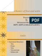Biomechanics of Foot and Ankle