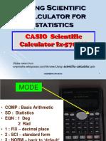 Using scientific calculator for statistics.ppt