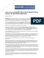 Debt Has Increased $5 Trillion Since Speaker Pelosi Vowed, 'No New Deficit Spending'