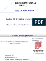 Lecture 03 Crystalline Structure of Metals