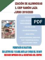 Cartel Solicitud Plaza 19-20