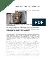 Richard Coeur de Lion en odeur de sainteté