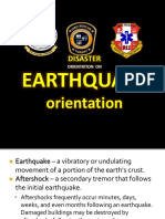 Earthquake Drill Orientation Only
