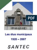 Municipalités à Santec - Finistère de 1920 à 2008