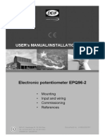 EPQ96-2 Users Manual-Installation Note 4189320025 UK