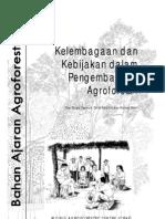kelembagaan agroforestry