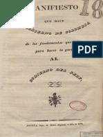 1828 Gobierno de Colombia - Manifiesto justificación guerra al Perú
