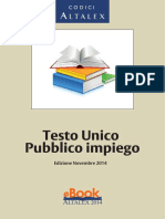 Testo Unico Pubblico Impiego Novembre 2014